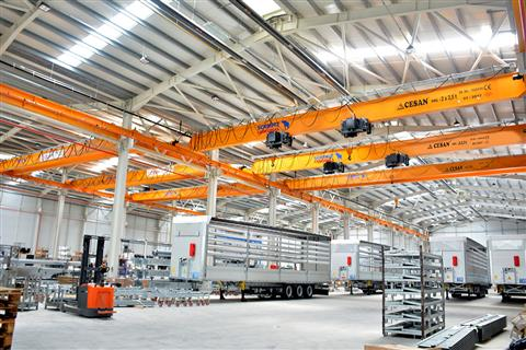 Single Girder Overhead Crane.